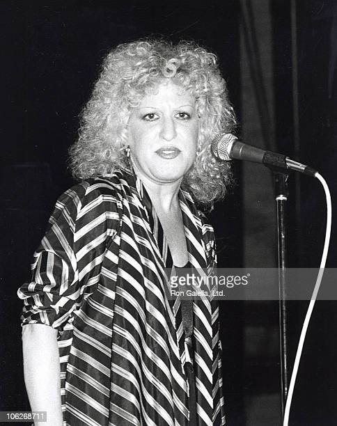 Bette Midler during The Day of the Child Benefit for the Children of Cambodia June 1 1980 at Beacon Theatre in New York City New York United States
