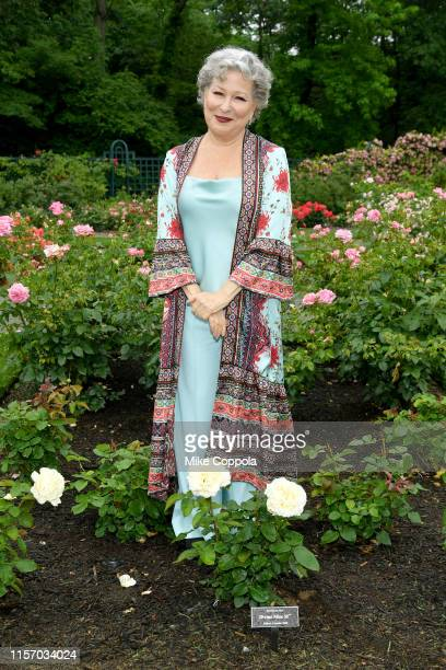 Bette Midler introduces the Divine Miss M Rose at the New York Restoration Project Spring Picnic at the New York Botanical Garden on June 19 2019 in...