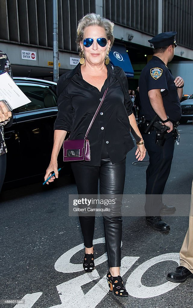Bette Midler is seen arriving at Marc Jacobs during Spring 2016 New York Fashion Week on September 17, 2015 in New York City.