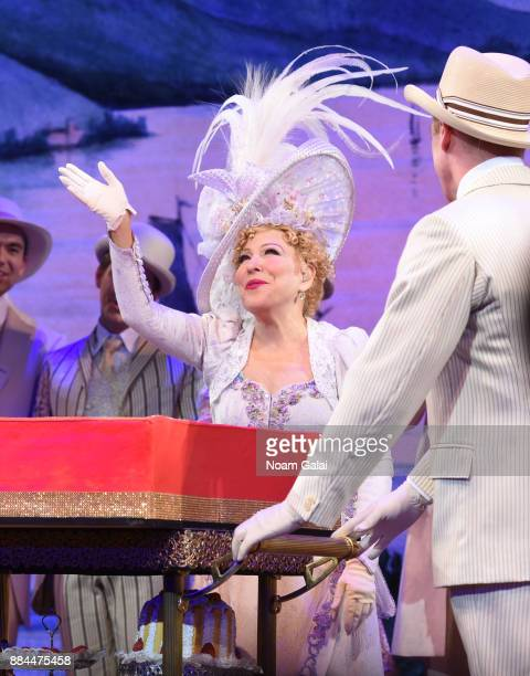 Bette Midler is surprised onstage at Birthday Celebration at Broadway's HELLO DOLLY on December 1 2017 in New York City