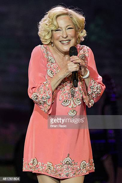 Bette Midler performs at The O2 Arena on July 18 2015 in London England