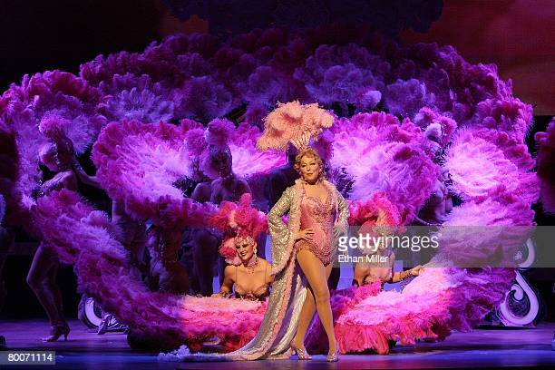 Bette Midler performs during the premiere of her new show 'The Showgirl Must Go On' at The Colosseum at Caesars Palace February 20 2008 in Las Vegas...