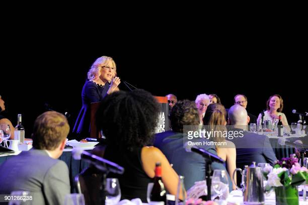 Bette Midler speaks at the 83rd Annual Drama League Awards at Marriott Marquis on May 19 2017 in New York City
