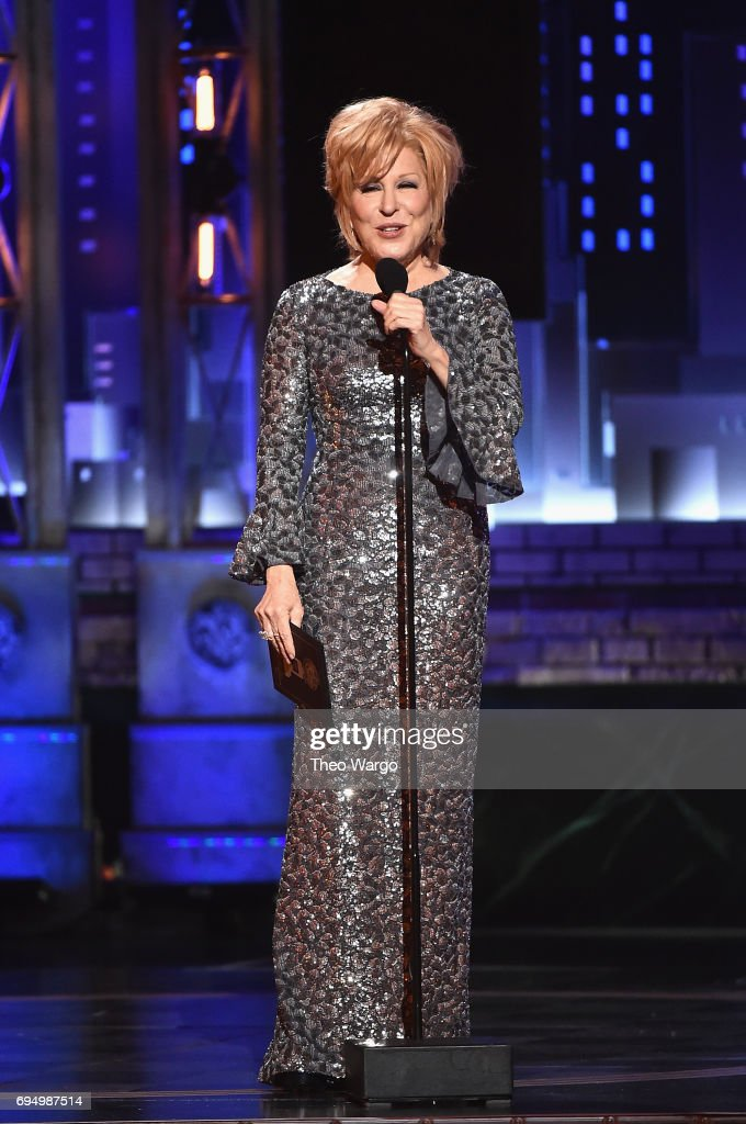 Bette Midler speaks onstage during the 2017 Tony Awards at Radio City Music Hall on June 11, 2017 in New York City.