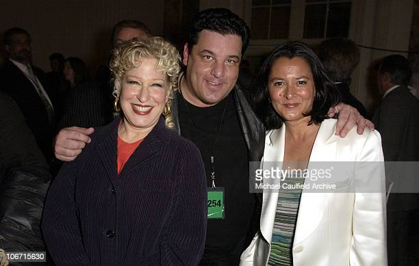 Bette Midler Steve Schirripa and Marsha Williams during Katie Couric and the Entertainment Industry Foundation Unite Hollywood Broadway Stars to...