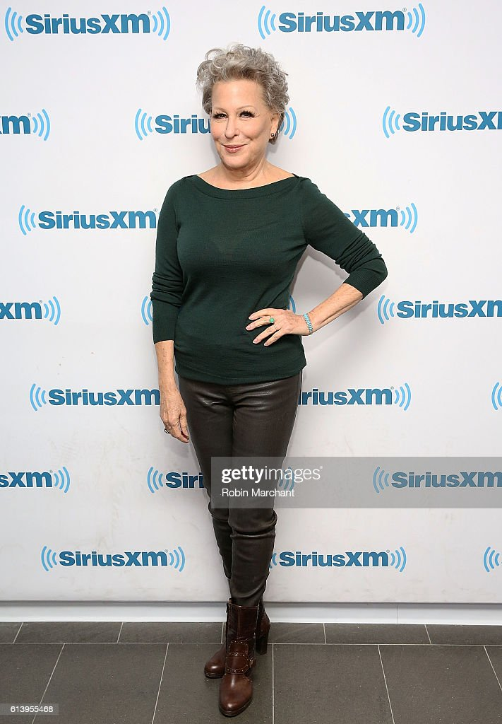 Bette Midler visits at SiriusXM Studio on October 11, 2016 in New York City.