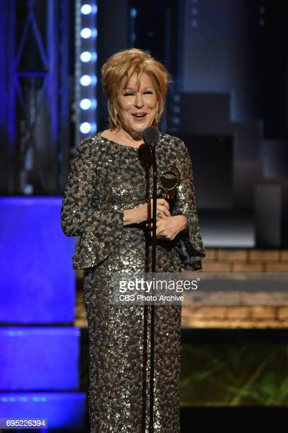 Bette Midler winner Best Performance by an Actress in a Leading Role in a Musical for Hello Dolly at THE 71st ANNUAL TONY AWARDS broadcast live from...