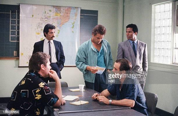 "Better Living Through Chemistry"" Episode 8 -- Air Date -- Pictured: Edward James Olmos as Lieutenant Martin Castillo, Don Johnson as Detective James..."