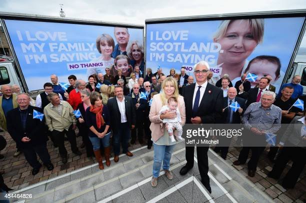 Better Together leader Alistair Darling launches a new ad van campaign on September 1 2014 in Greenock Scotland There are just 17 campaigning days...