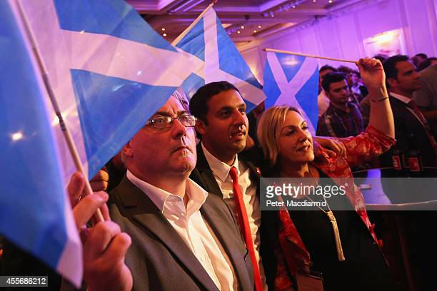 'Better Together' supporters celebrate the result of the Scottish referendum on independence at the campaign Headquarters at the Marriott Hotel on...