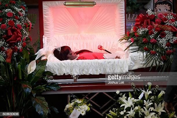 Bettie Jones lays in her casket during her funeral at New Mount Pilgrim Missionary Baptist Church January 6 2016 in Chicago Illinois Bettie Jones 55...