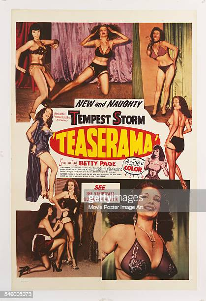 Bettie Page is among the burlesque performers in the film 'Tempest Storm Teaserama' 1955