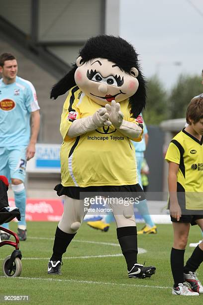 Bettie the Burton Albion mascot prior to the Coca Cola League Two Match between Burton Albion and Northampton Town at the Pirelli Stadium on August...