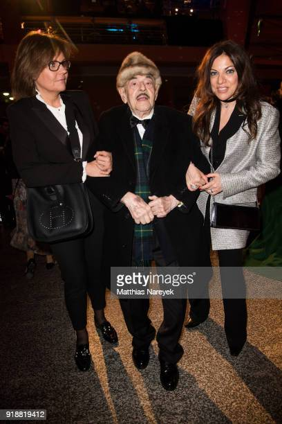 Bettina Bernhard Artur Brauner and his daughter Alice Brauner attend the opening party of the 68th Berlinale International Film Festival Berlin at...