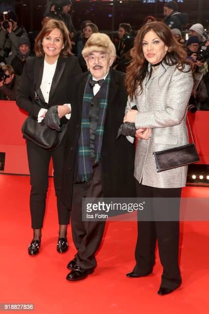 Bettina Bernhard Artur Brauner and his daughter Alice Brauner attend the Opening Ceremony 'Isle of Dogs' premiere during the 68th Berlinale...