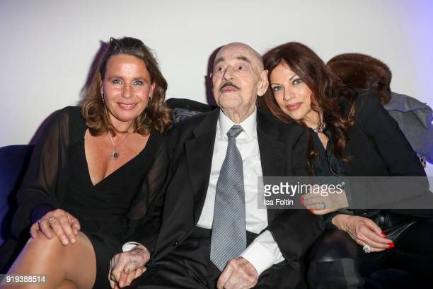 Bettina Bernhard Artur Brauner and his daughter Alice Brauner attends the Blue Hour Reception hosted by ARD during the 68th Berlinale International...