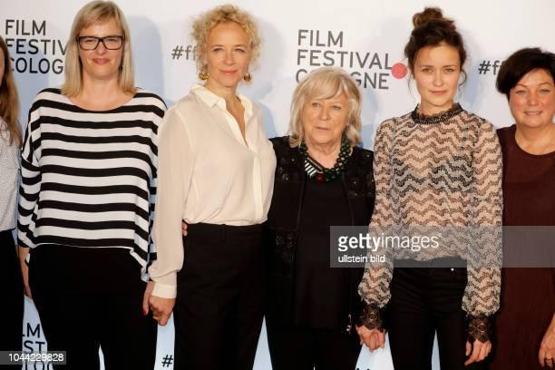 Bettina Brokemper Katja Riemann Margarethe von Trotta und Tinka Fürst bei der Eröffnung des 27 Film Festival Cologne am 29 September 2017 im...