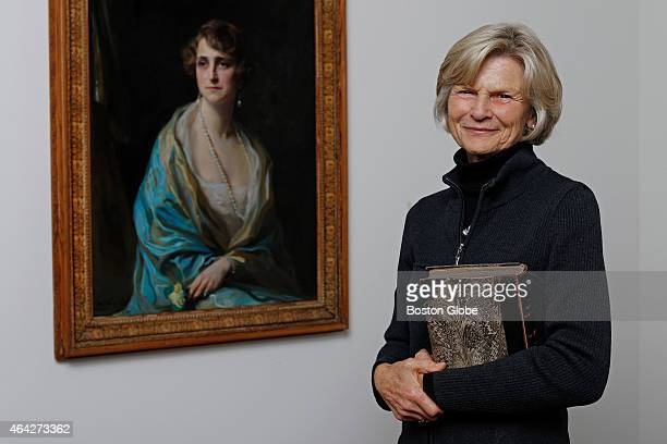 Bettina Burr stands next to a 1925 painting of her grandmother Clarice de Rothschild by the artist de Laszlo The piece is one of almost 200 donated...