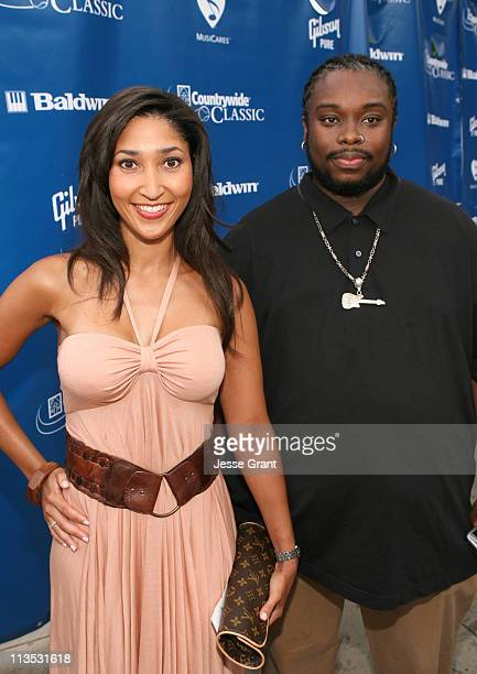 Bettina Bush and Automatic during Gibson and Baldwin Host 2006 'Night at the Net' Red Carpet at Los Angeles Tennis Center in Los Angeles California...