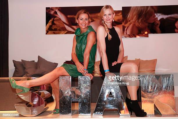 Bettina Cramer and Britta Steffen attend the True Berlin By Shan Rahimkhan event on September 1 2016 in Berlin Germany