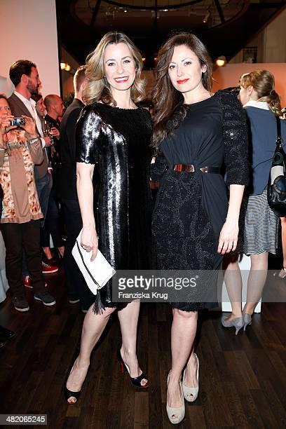 Bettina Cramer and Carolina Vera attend the 'Studio Italia La Perfezione del Gusto' Grand Opening at KaDeWe on April 02 2014 in Berlin Germany
