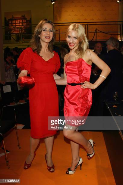 Bettina Cramer and Julia Dietze attend the 26th Prix Veuve Clicquot 'Fuer die Unternehmerin des Jahres 2012' at Umspannwerk / Yellow Cube on May 9...