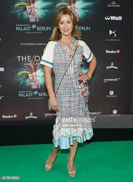 Bettina Cramer arrives at the 'THE ONE Grand Show' premiere at FriedrichstadtPalast on October 6 2016 in Berlin Germany