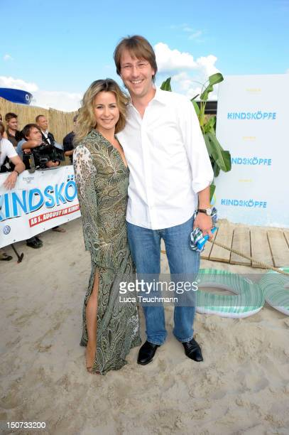 Bettina Cramer attends the Beach BBQ for the German Premiere of 'Kindskoepfe' at O2 World on July 30 2010 in Berlin Germany