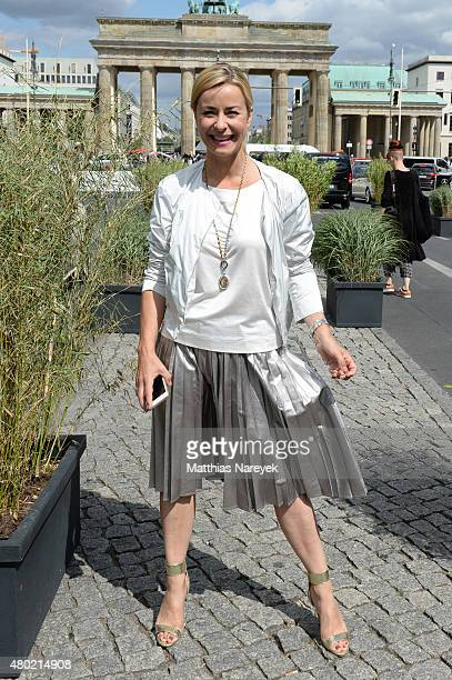 Bettina Cramer attends the Ewa Herzog show during the MercedesBenz Fashion Week Berlin Spring/Summer 2016 at Brandenburg Gate on July 10 2015 in...