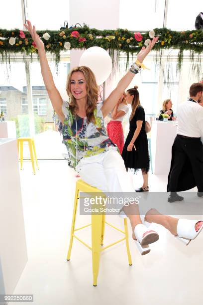 Bettina Cramer attends The Fashion Hub during the Berlin Fashion Week Spring/Summer 2019 at Ellington Hotel on July 5 2018 in Berlin Germany