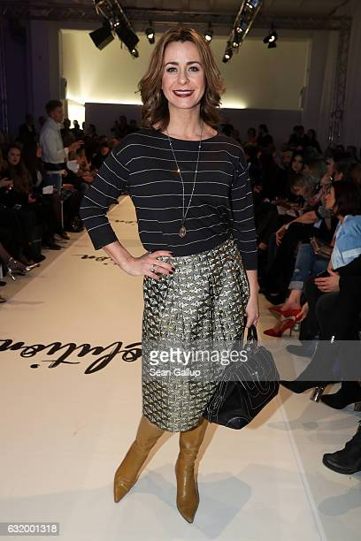 Bettina Cramer attends the Marcel Ostertag show during the MercedesBenz Fashion Week Berlin A/W 2017 at on January 18 2017 in Berlin Germany