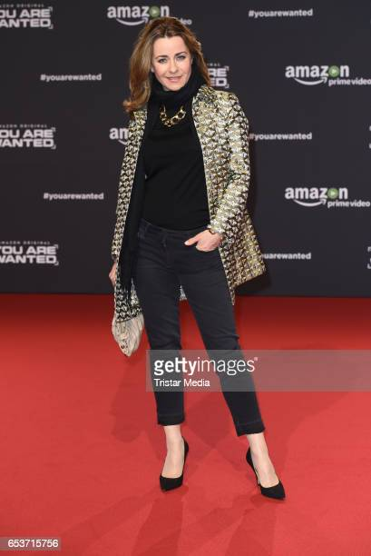 Bettina Cramer attends the premiere of the Amazon series 'You are wanted' at CineStar on March 15 2017 in Berlin Germany