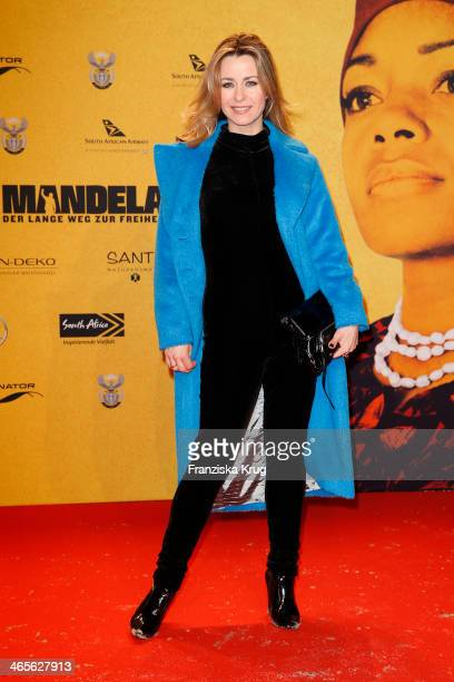 Bettina Cramer attends the premiere of the film 'Mandela Long Walk to Freedom' at Zoo Palast on January 28 2014 in Berlin Germany