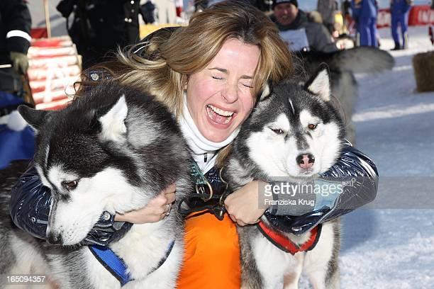 Bettina Cramer Beim 2 Promi Schlittenhunderennen Tirol Cross Mountain In Kühtai