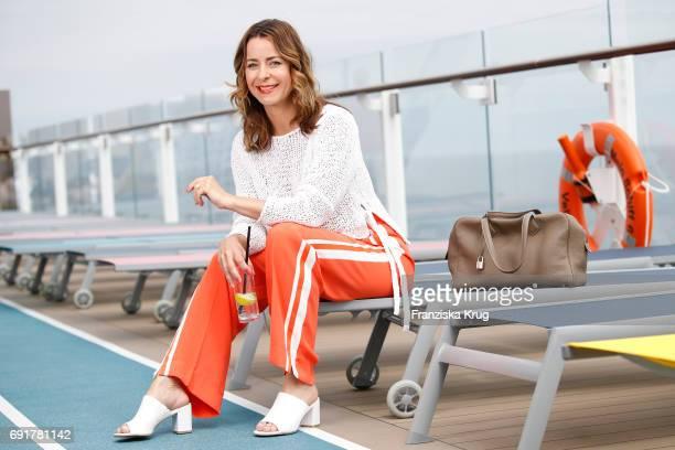 Bettina Cramer is seen on board of the TUI cruise ship 'Mein Schiff 6' on June 2 2017 in Hamburg Germany