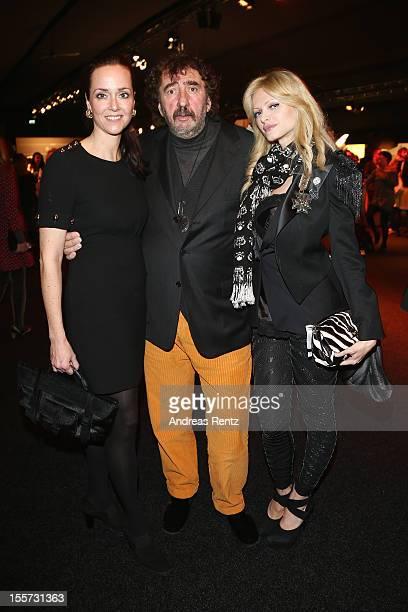 Bettina Haussmann Audrey Tritto and Monty Shadow attend the first day of the MercedesBenz Fashion Days at Schiffbau on November 7 2012 in Zurich...
