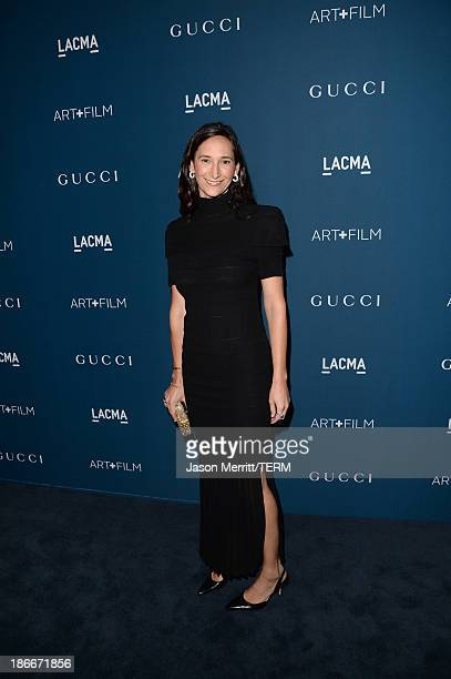 Bettina Korek attends the LACMA 2013 Art + Film Gala honoring Martin Scorsese and David Hockney presented by Gucci at LACMA on November 2, 2013 in...