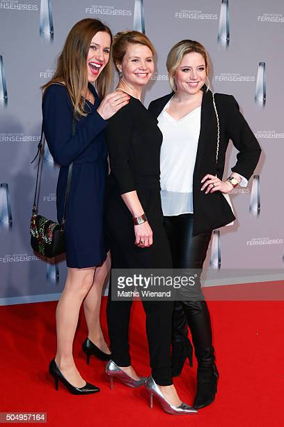 Bettina Lamprecht Annette Frier and Caroline Frier attends the German Television Award at Rheinterrasse on January 13 2016 in Duesseldorf Germany