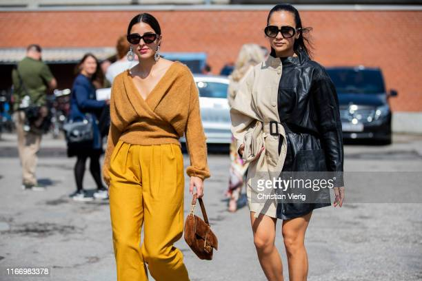 Bettina Looney and Anna Rosa Vitiello seen outside By Malene Birger during Copenhagen Fashion Week Spring/Summer 2020 on August 08, 2019 in...