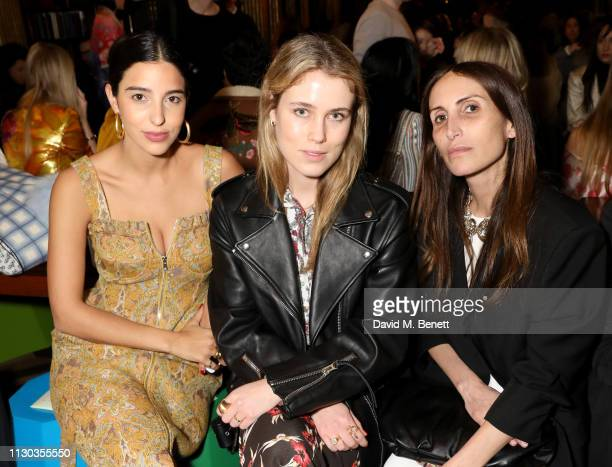 Bettina Looney Annabel Rosendahl and Chloé Harrouche attend the Peter Pilotto Autumn Winter 2019 Show on February 17 2019 in London England