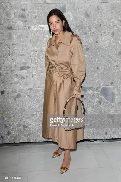 Bettina Looney attend the Max Mara show during Milan Fashion Week Fall/Winter 2019/20 on February 21 2019 in Milan Italy
