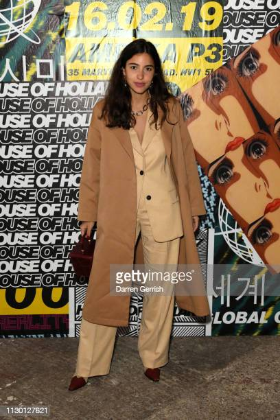 Bettina Looney attends the House of Holland show during London Fashion Week February 2019 at the University of Westminster on February 16 2019 in...