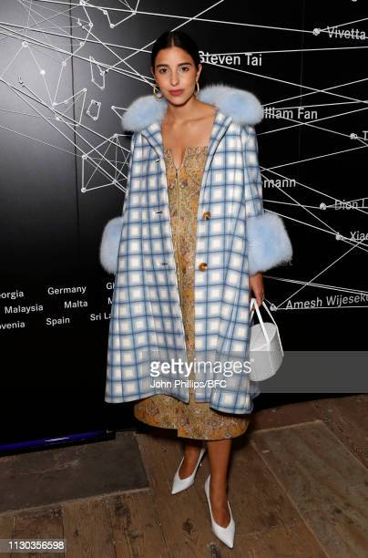 Bettina Looney attends the MercedesBenz Fashion Talents 10th Anniversary during London Fashion Week February 2019 on February 17 2019 in London...