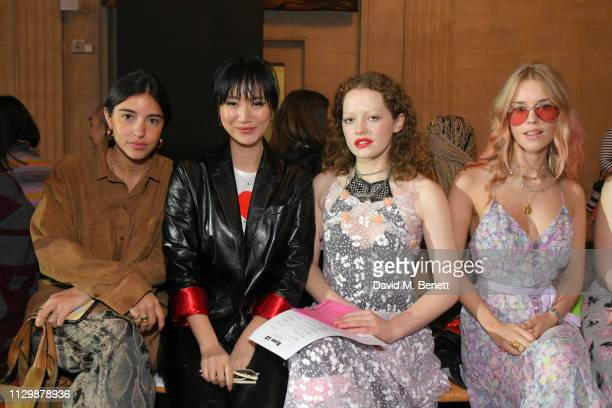 Bettina Looney Betty Bachz Zenobia VoegeleDowning and Mary Charteris attend the Ryan Lo show during London Fashion Week February 2019 at The Dutch...