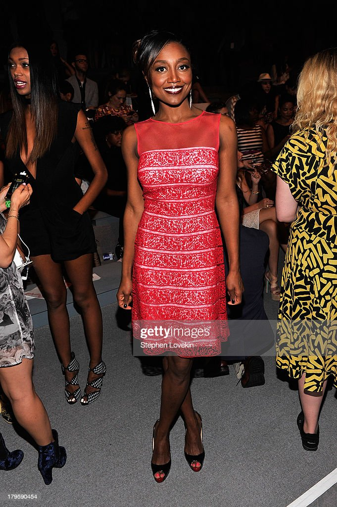 Bettina Miller attends the Tadashi Shoji Spring 2014 fashion show during Mercedes-Benz Fashion Week at The Stage at Lincoln Center on September 5, 2013 in New York City.