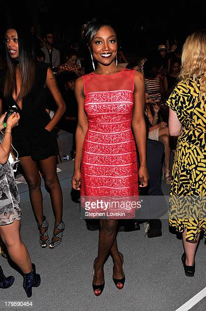 Bettina Miller attends the Tadashi Shoji Spring 2014 fashion show during MercedesBenz Fashion Week at The Stage at Lincoln Center on September 5 2013...