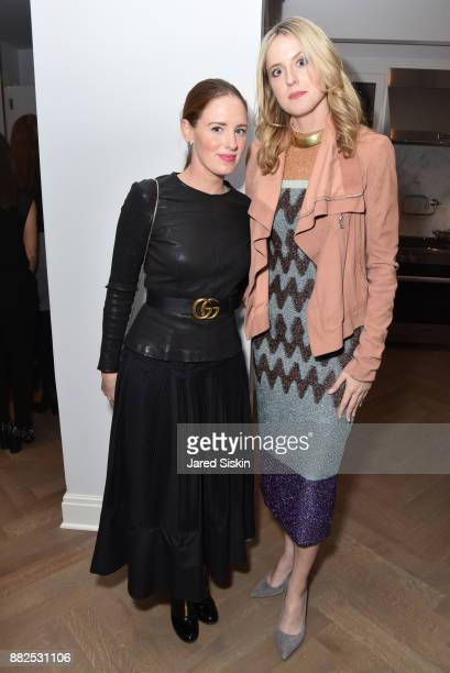 Bettina Prentice and Anne Huntington attend AVENUE celebrates the 'Not It' Girls of the Art World on November 29 2017 at 101 West 78th Street in New...