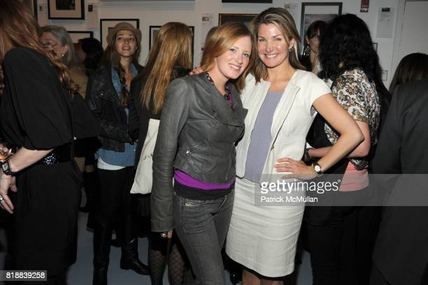 Bettina Prentice and Eliza Osborne attend THE HUMANE SOCIETY OF NEW YORK's Third Benefit Photography Auction at DVF Studio on April 27 2010 in New...