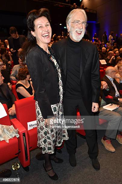 Bettina Reitz and Michael Haneke during the 5th German Director Award Metropolis at HFF on November 8 2015 in Munich Germany