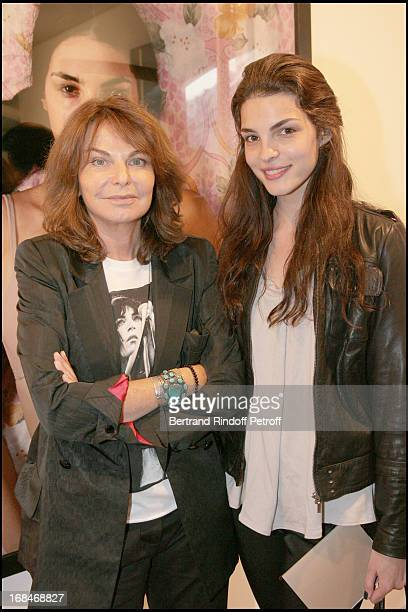 Bettina Rheims and Bojana Panic at Private View Of Bettina Rheims' Photography Exhibition Just Like A Woman At La Galerie Jerome De Noirmont